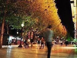 Champs-Élysées at nighttime