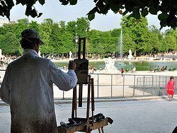 Jardin des Tuileries, painter