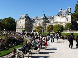 Luxembourg Palace, sunny day