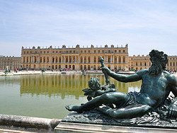 View of the Palace of Versailles from the gardens