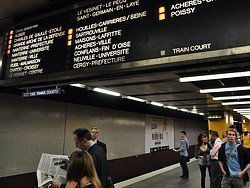 RER, screen with information