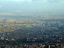 Llegando a París en avión