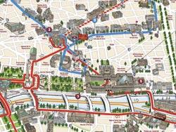 Itinerario di Big Bus Paris