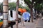 Ropa tendida en la calle