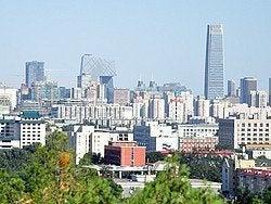 Colina del Carbón, vistas de Pekín