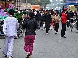 Paseando en pijama por Wangfujing