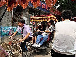 Rickshaw recorriendo un hutong