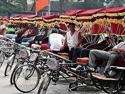 Rickshaws esperando presas