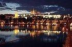 Castillo de Praga iluminado