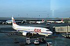 Llegando a Praga en avión