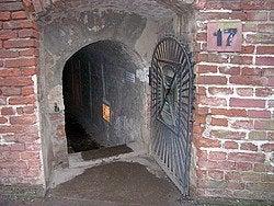 Terezín, entrada al tunel 17