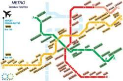 Plano del metro de Praga
