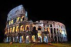 The Colosseum of Rome lit up