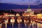 Rome lit up