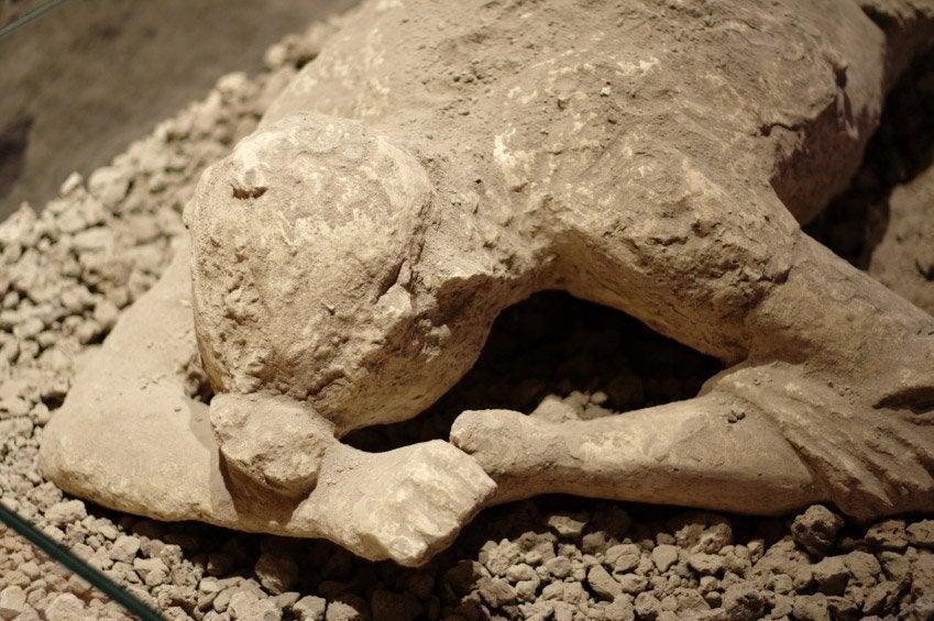 Una de las víctimas de la erupción del Vesubio