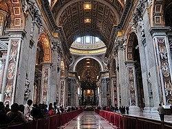 St Peter's Basilica, inside