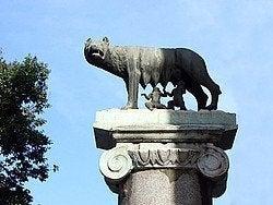 Escultura de Romulo y Remo