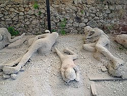 Pompeya, cuerpos sepultados