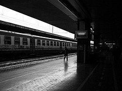 Termini Train Station, platform
