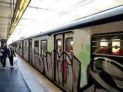 Tren suburbano en Ostia Antica