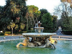 Villa Borghese, fountain