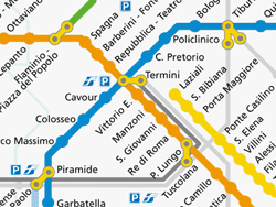 Rome Transport Map