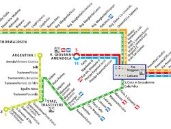 Plano de tranvía de Roma