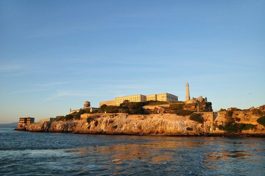 Llegando a Alcatraz