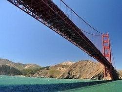 Pasando por debajo del Golden Gate