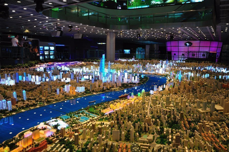 Maqueta de Shanghái