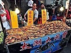 Puesto callejero de cangrejos de Shanghái