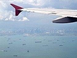 Llegando a Singapur, vistas desde el avión