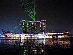 Marina Bay Sands al anochecer