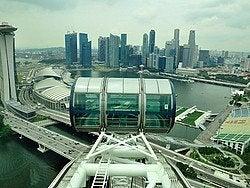 Singapore Flyer, vistas