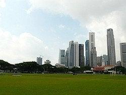 Skyline de Singapur desde War Memorial Park