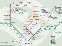 Plano del MRT de Singapur