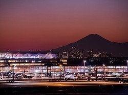 Aeropuerto de Haneda y Monte Fuji