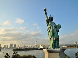 Odaiba, Estatua de la Libertad