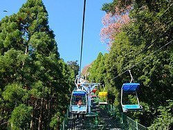 Monte Takao, teleférico