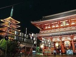 Templo Sensoji por la noche