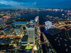 Yokohama desde la Torre Landmark