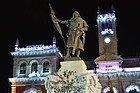 Estatua del Conde Ansúrez en Navidad