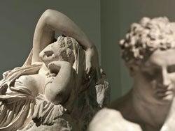 Ariadna abandonada (reproducción artística)