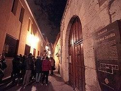 Casa de José Zorrilla al anochecer