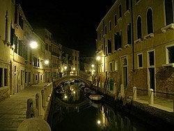 Venice canal at dusk