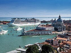 Cruise departing from Venice