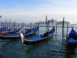 Venice and its gondolas