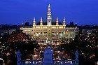 Ayuntamiento de Viena y su mercado navideño