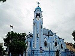 Bratislava, iglesia azul