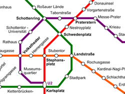 Plano de metro de Viena